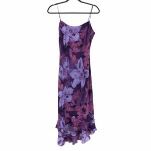 Vintage Fairweather Dress Size 8 Floral Purple